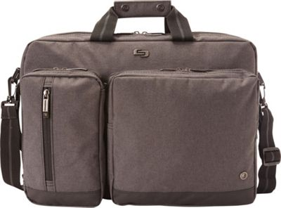SOLO 15.6 inch Laptop Hyrbid Briefcase Backpack Gray - SOLO Non-Wheeled Business Cases