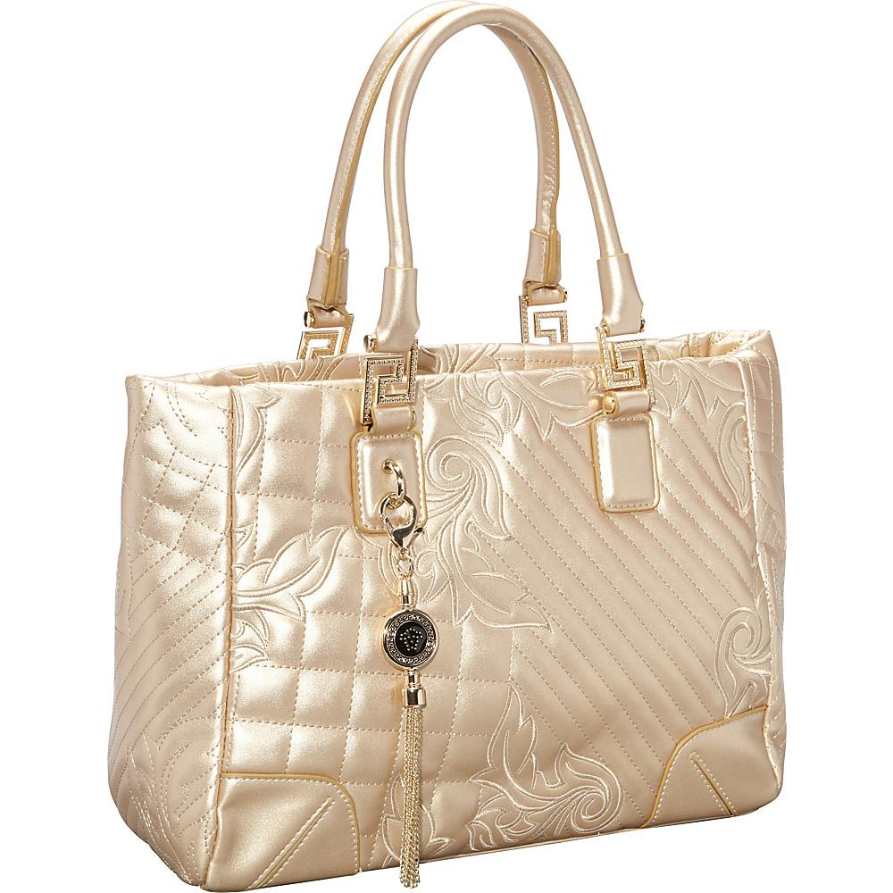 Ann Creek Paramus Tote Gold Ann Creek Manmade Handbags