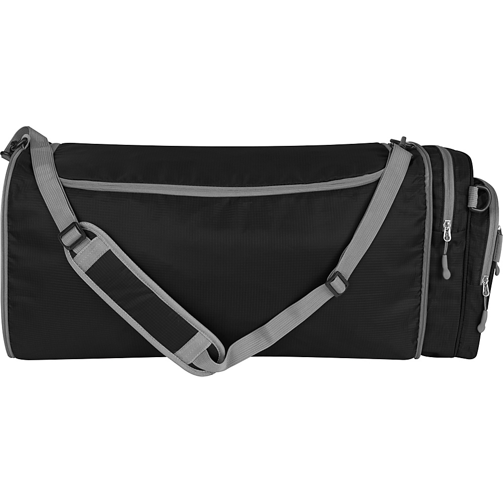 Travelon Convertible Crossbody Duffel Black - Travelon Lightweight packable expandable bags