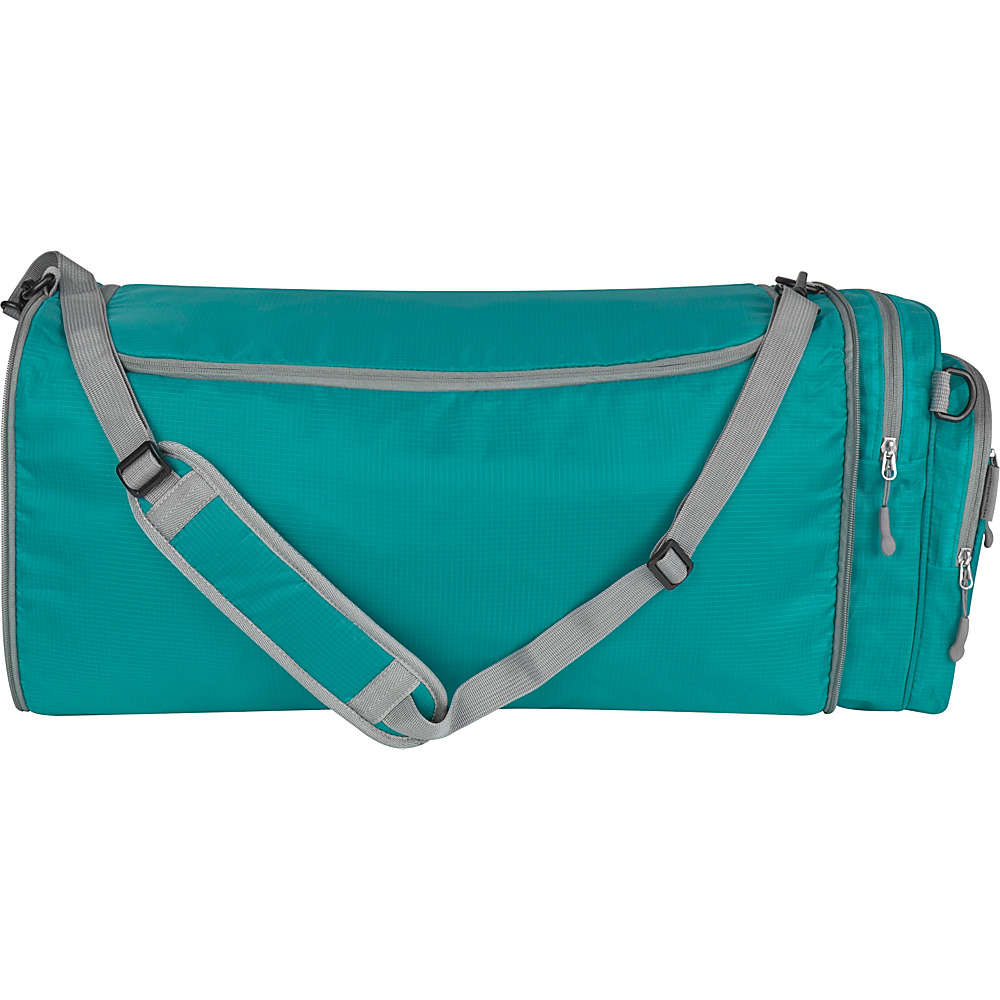Travelon Convertible Crossbody Duffel Aqua - Travelon Lightweight packable expandable bags