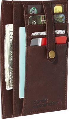 Derek Alexander Multi Pocket Double Side Card Holder Brow...