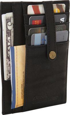 Derek Alexander Multi Pocket Double Side Card Holder Blac...