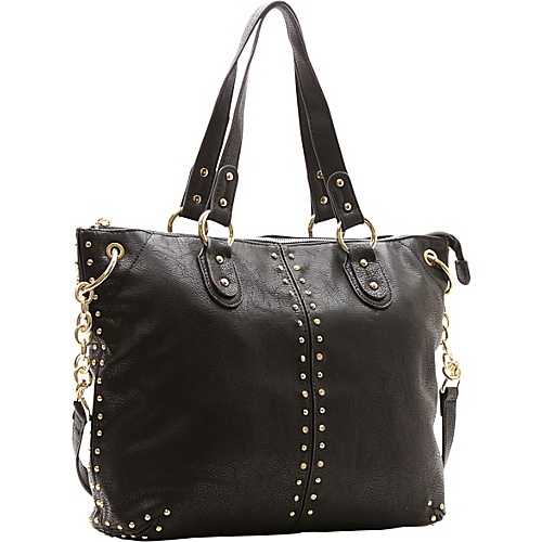 Robert Matthew Peyton Satchel Black - Robert Matthew Manmade Handbags