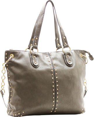 Robert Matthew Peyton Satchel Slate Grey - Robert Matthew Manmade Handbags