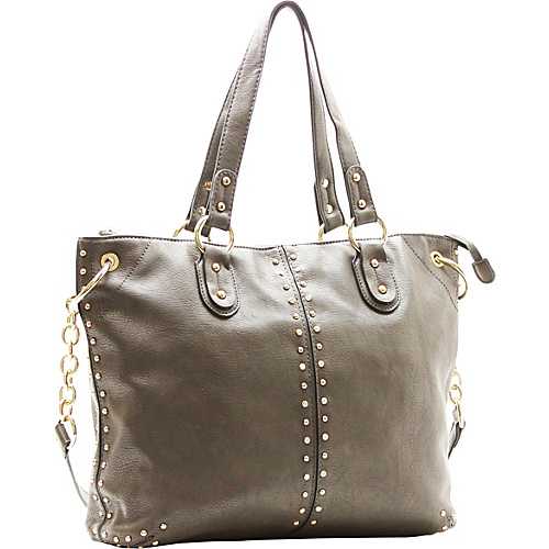 Robert Matthew Peyton Satchel Slate Grey - Robert Matthew Manmade Handbags
