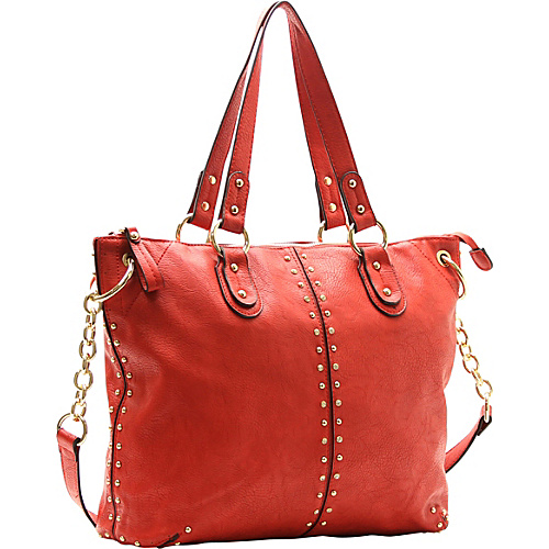 Robert Matthew Peyton Satchel Vermillion - Robert Matthew Manmade Handbags