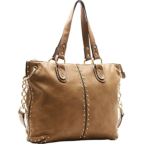 Robert Matthew Peyton Satchel Latte - Robert Matthew Manmade Handbags
