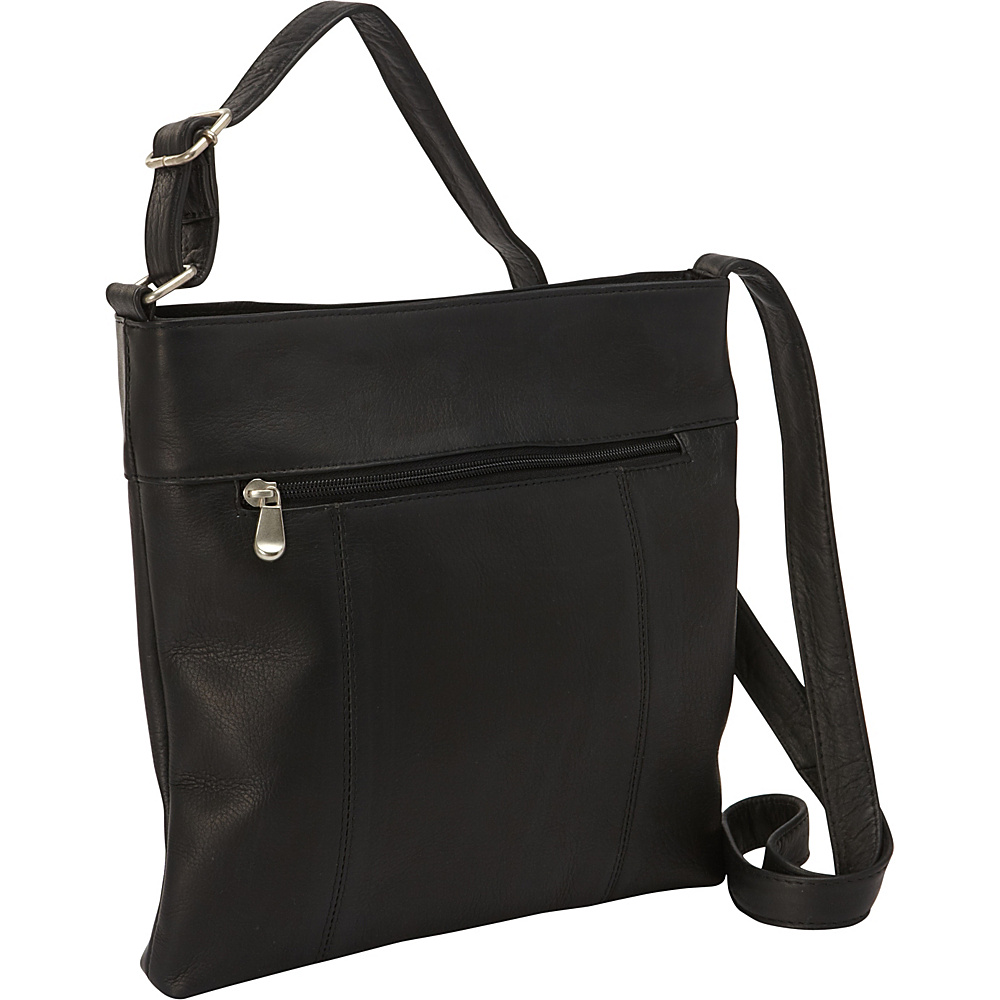 Le Donne Leather Derosa Crossbody Black - Le Donne Leather Leather Handbags - Handbags, Leather Handbags