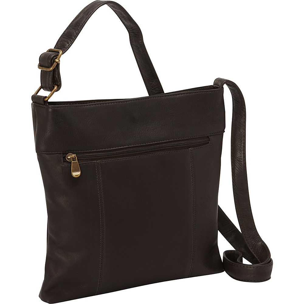 Le Donne Leather Derosa Crossbody Cafe - Le Donne Leather Leather Handbags - Handbags, Leather Handbags