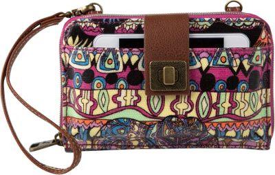 Sakroots Artist Circle Smartphone Crossbody Orchid One World - Sakroots Fabric Handbags