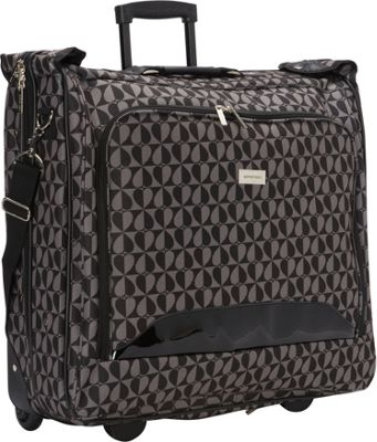 Geoffrey Beene Luggage Geoffrey Beene Luggage Hearts Fashion Rolling Garment Carrier Gray/Black Hearts - Geoffrey Beene Luggage Garment Bags
