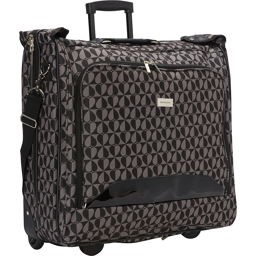 Geoffrey Beene Luggage Hearts Fashion Rolling Garment Carrier Gray/Black Hearts - Geoffrey Beene Luggage Garment Bags