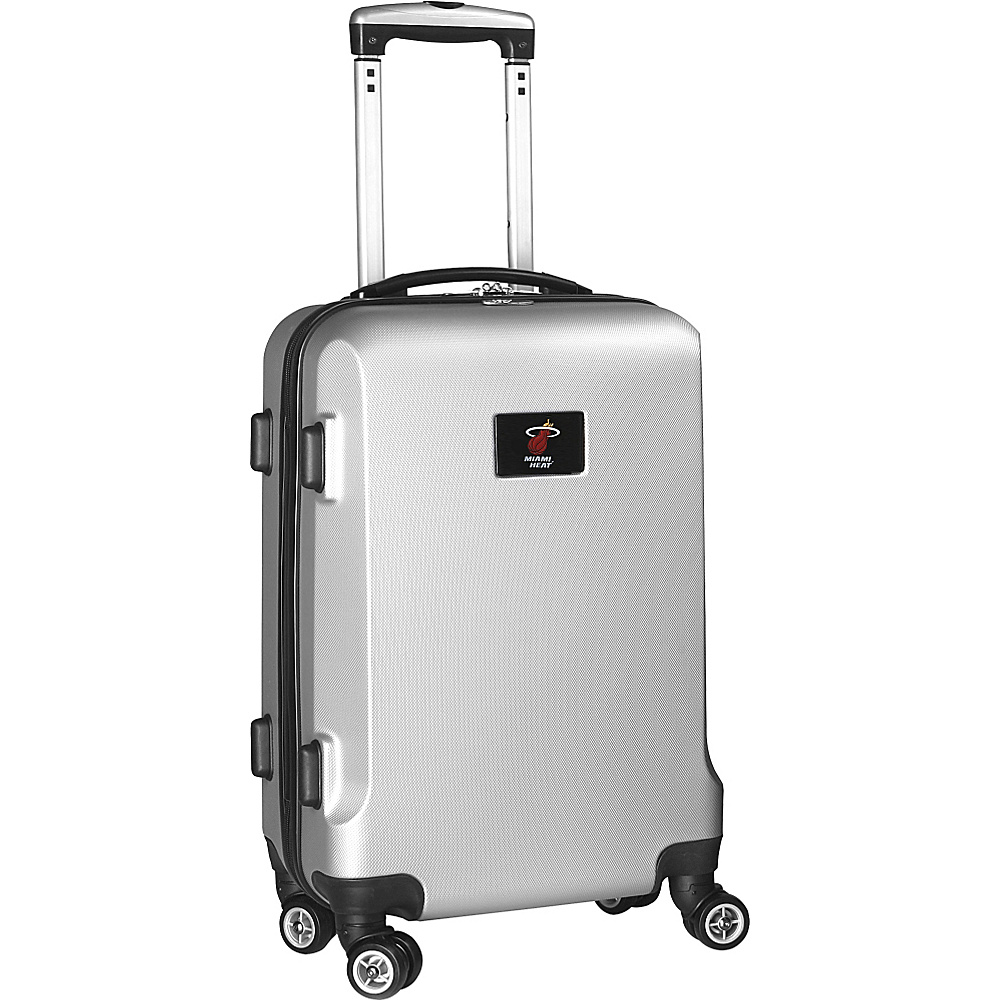 Denco Sports Luggage NBA 20 Domestic Carry-On Silver Miami Heat - Denco Sports Luggage Hardside Carry-On - Luggage, Hardside Carry-On