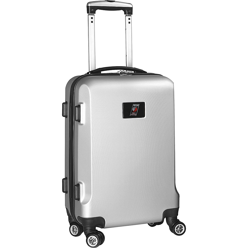 Denco Sports Luggage NBA 20 Domestic Carry-On Silver Portland Trail Blazers - Denco Sports Luggage Hardside Carry-On - Luggage, Hardside Carry-On