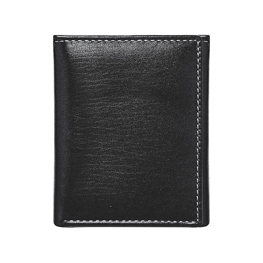 Stewart Stand RFID Blocking Leather Exterior Tri Fold Black Silver Stewart Stand Men s Wallets