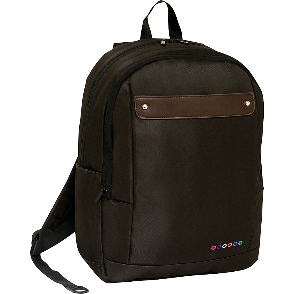 J World New York Beetle Laptop Backpack Brown J World New York Business Laptop Backpacks