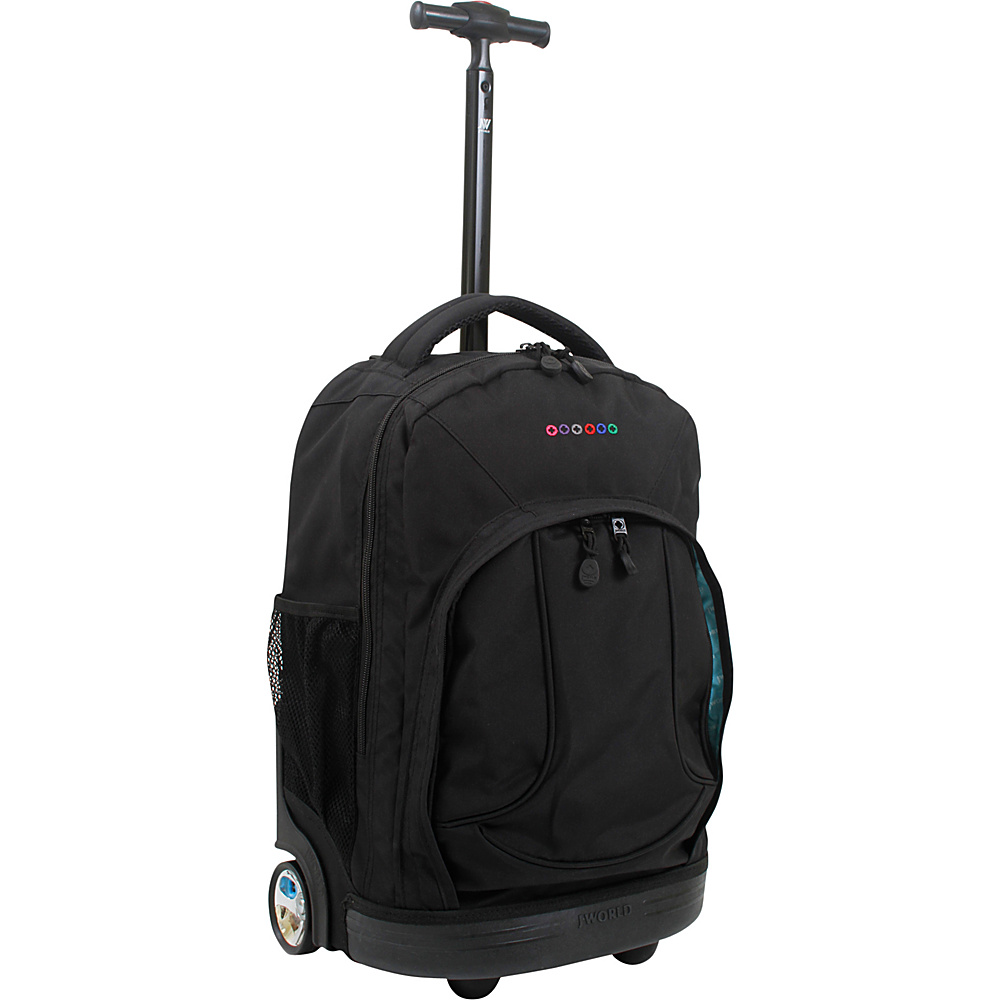 J World New York Sunday Rolling Backpack Black J World New York Rolling Backpacks