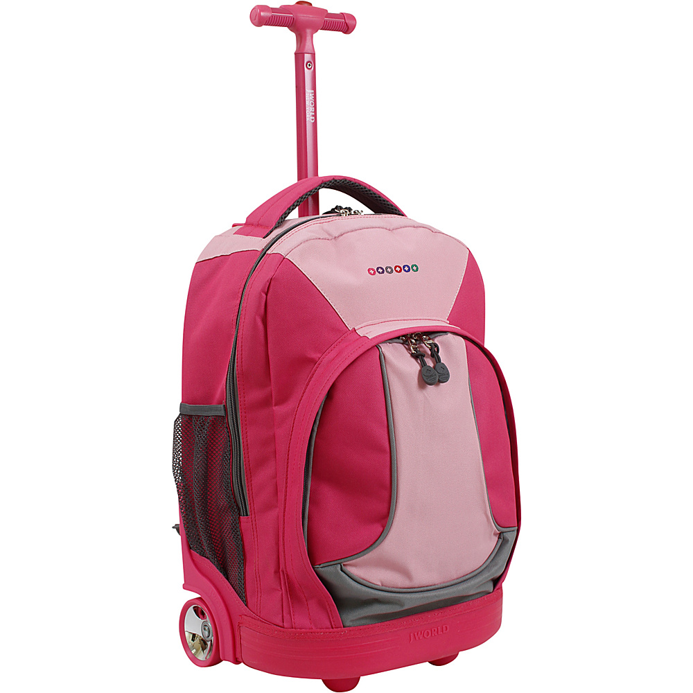 J World New York Sunday Rolling Backpack Pink - J World New York Rolling Backpacks - Backpacks, Rolling Backpacks