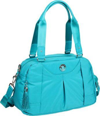 Image of Beside-U Ava Satchel Blue Viridian - Beside-U Fabric Handbags