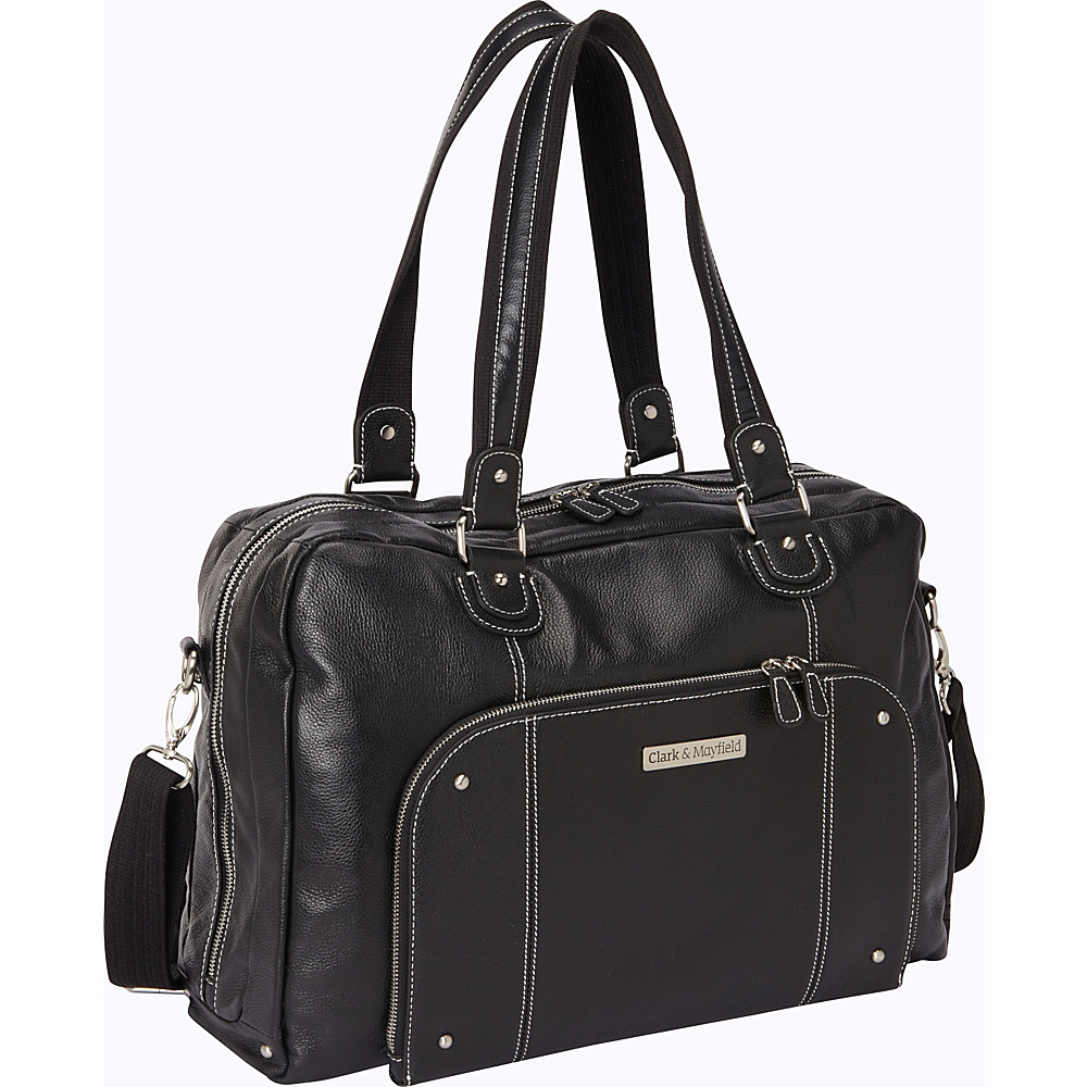 Clark Mayfield Morrison Leather Laptop Handbag 18.4 Black Clark Mayfield Women s Business Bags