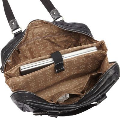 Clark & Mayfield Morrison Leather Laptop Handbag 18.4 inch Black - Clark & Mayfield Women's Business Bags