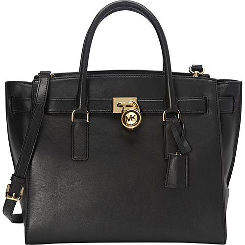 MICHAEL Michael Kors Hamilton Traveler Large Satchel Black - MICHAEL Michael Kors Designer Handbags