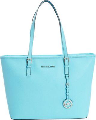 MICHAEL Michael Kors Jet Set Travel Top Zip Tote Aquamarine - MICHAEL Michael Kors Designer Handbags