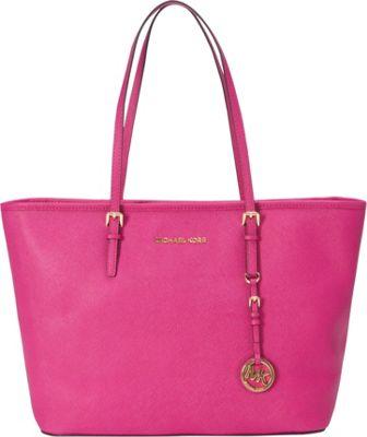MICHAEL Michael Kors Jet Set Travel Top Zip Tote Fuschia - MICHAEL Michael Kors Designer Handbags