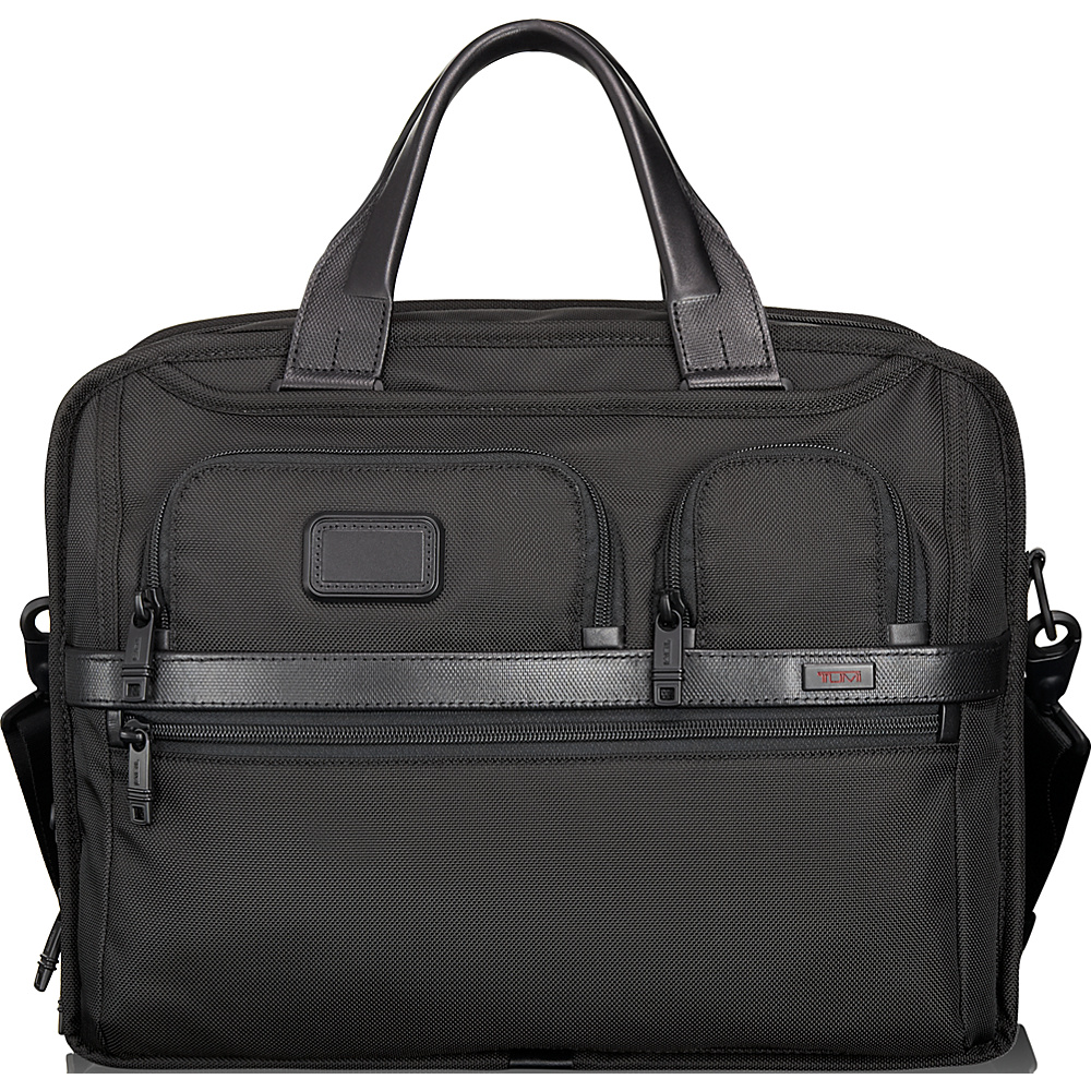 Tumi Alpha 2 Tumi T-Pass Expandable Laptop Brief Black - Tumi Non-Wheeled Business Cases - Work Bags & Briefcases, Non-Wheeled Business Cases
