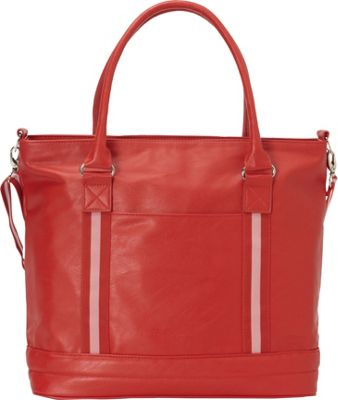 Bellino Cooper Tote Red - Bellino Leather Handbags