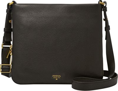 Fossil Preston Crossbody Black - Fossil Leather Handbags