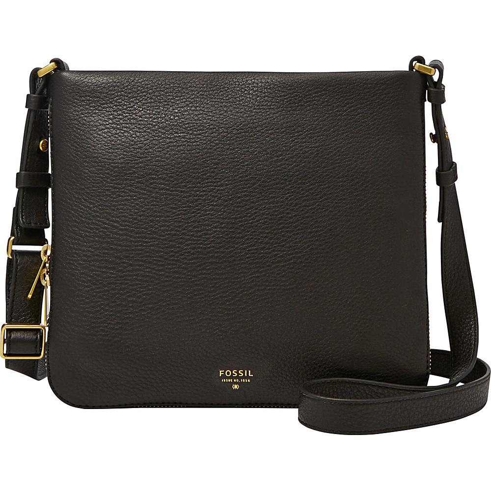 Fossil Preston Crossbody Black - Fossil Leather Handbags - Handbags, Leather Handbags