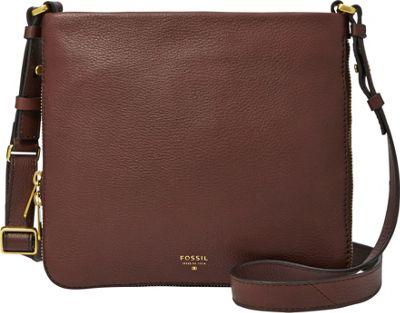 Fossil Preston Crossbody Espresso - Fossil Leather Handbags
