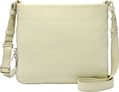 Fossil Preston Crossbody Light Green - Fossil Leather Handbags