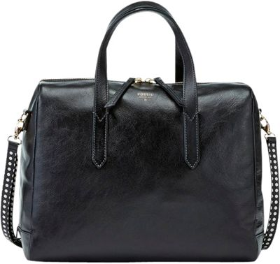 Fossil Sydney Large Satchel Black - Fossil Leather Handbags
