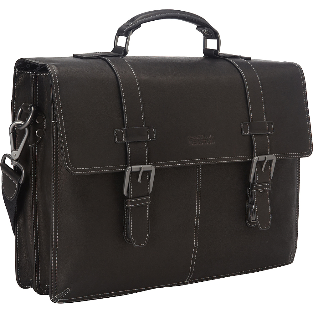 Kenneth Cole Reaction Flap py Go Lucky Laptop Briefcase Black Kenneth Cole Reaction Non Wheeled Business Cases