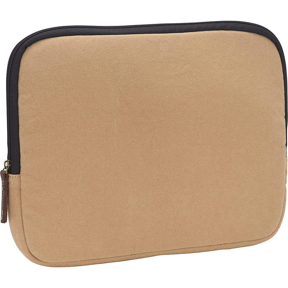 Vagabond Traveler 13-inch MacBook Pro Cotton Canvas Sleeve Protector Khaki - Vagabond Traveler Electronic Cases - Technology, Electronic Cases