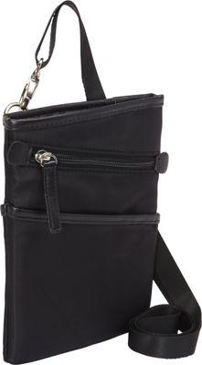 Women In Business Dallas City Slim Shoulder Bag- 7 inch Black - Women In Business Fabric Handbags