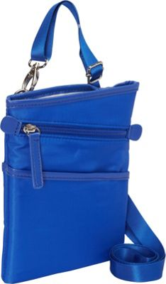 Women In Business Dallas City Slim Shoulder Bag- 7 inch Blue - Women In Business Fabric Handbags