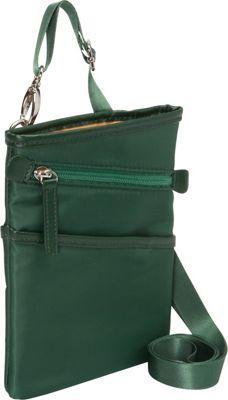 Women In Business Dallas City Slim Shoulder Bag- 7 inch Green - Women In Business Fabric Handbags