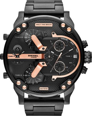 Diesel Watches Diesel Watches Mr. Daddy 2.0 Watch Black/Rose Gold - Diesel Watches Watches