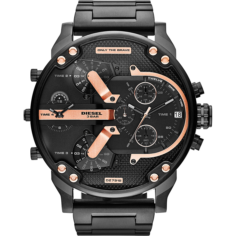 Diesel Watches Mr. Daddy 2.0 Watch Black/Rose Gold - Diesel Watches Watches