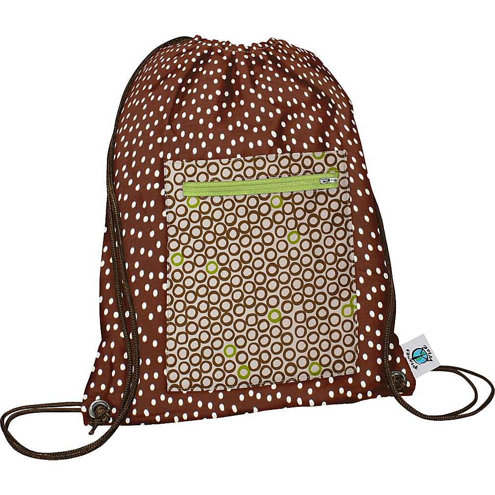 Planet Wise Sport Sack pack Lime Cocoa Bean Planet Wise Everyday Backpacks