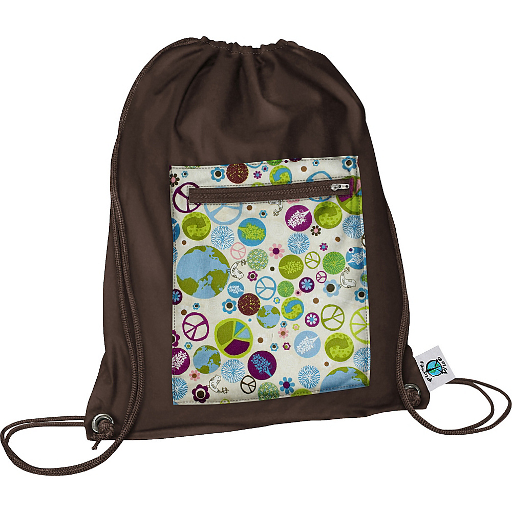 Planet Wise Sport Sack pack Peace On Earth Planet Wise Everyday Backpacks