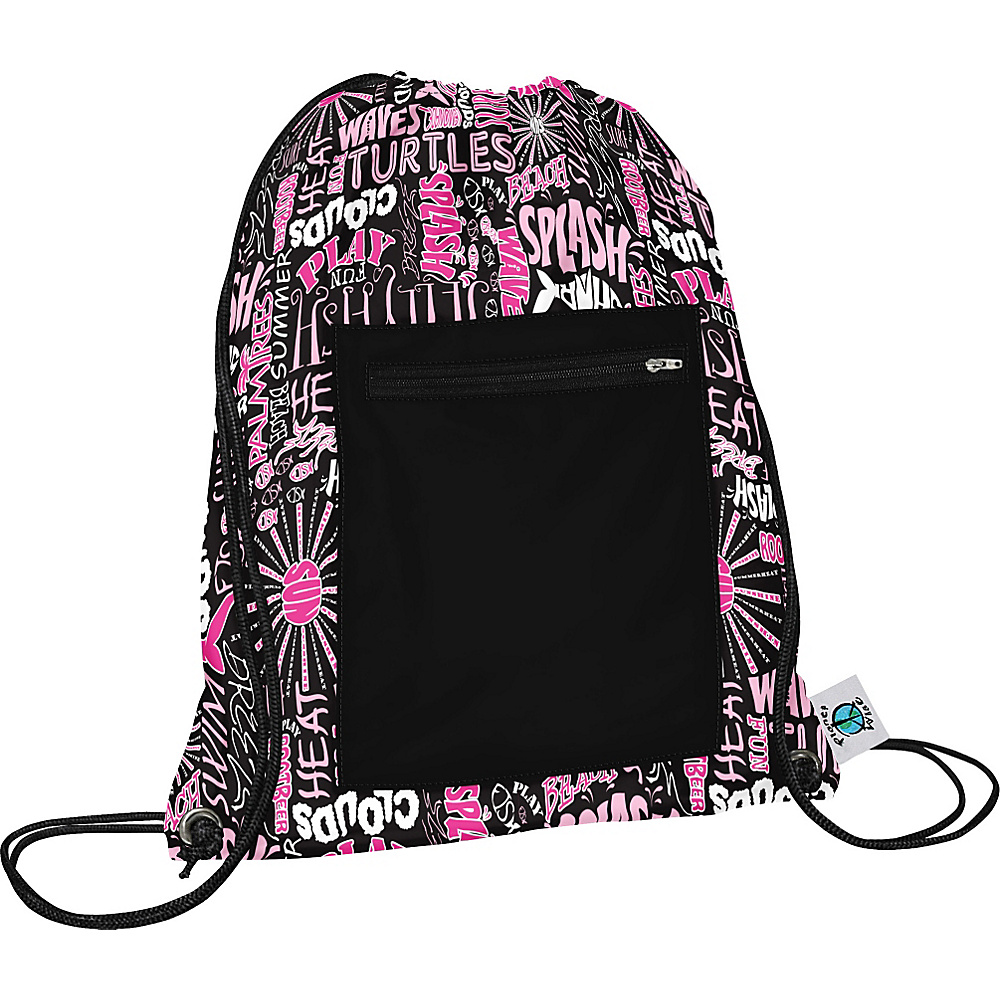 Planet Wise Sport Sack pack Pink Splash Planet Wise Everyday Backpacks
