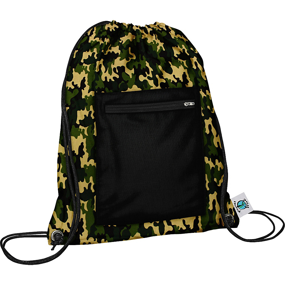 Planet Wise Sport Sack pack Camo Planet Wise Everyday Backpacks