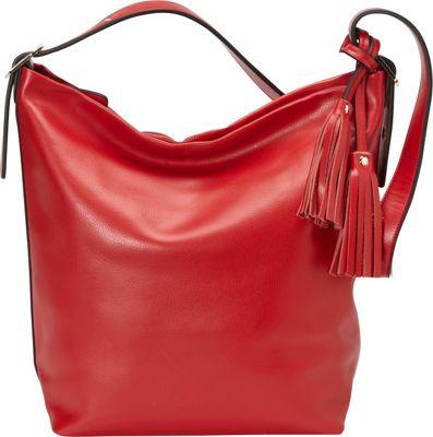 Donna Bella Designs Olivia Shoulder Bag Red - Donna Bella Designs Leather Handbags