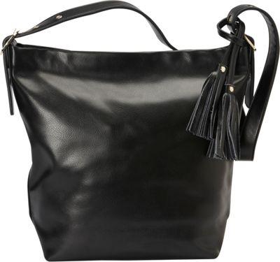 Donna Bella Designs Olivia Shoulder Bag Black - Donna Bella Designs Leather Handbags