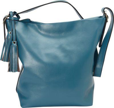 Donna Bella Designs Olivia Shoulder Bag Blue - Donna Bella Designs Leather Handbags