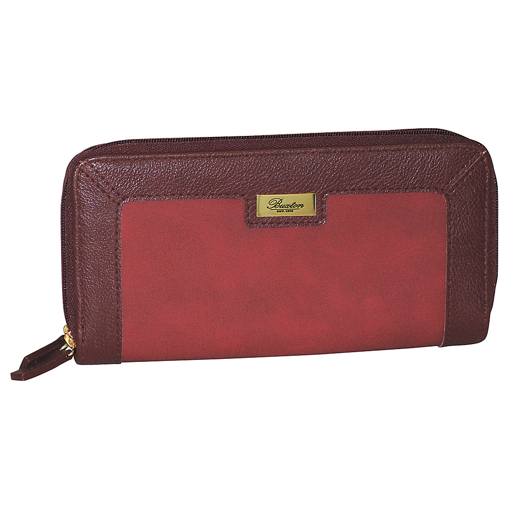 Buxton East West Zip Around Wallet Red Buxton Women s Wallets